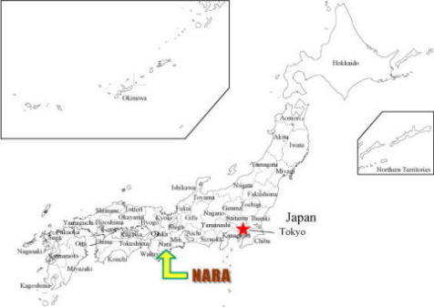 Historic Monuments Of Ancient Nara UNESCO World Heritages Visit - Japan map nara
