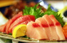 sashimi, raw sea food